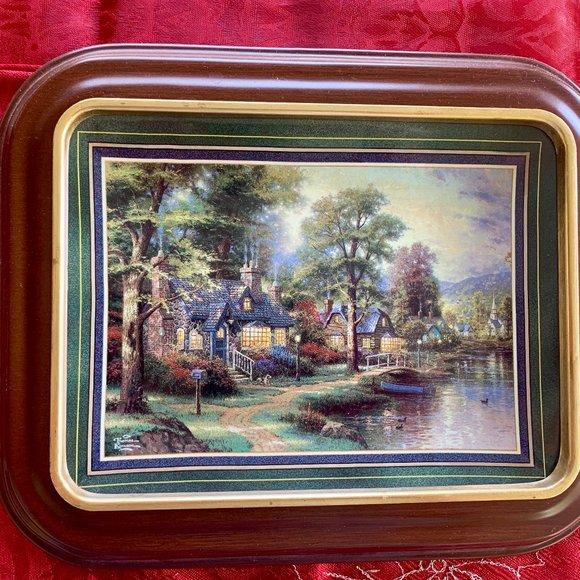 """Thomas Kinkade's """"Hometown Lake"""" - Plate"""